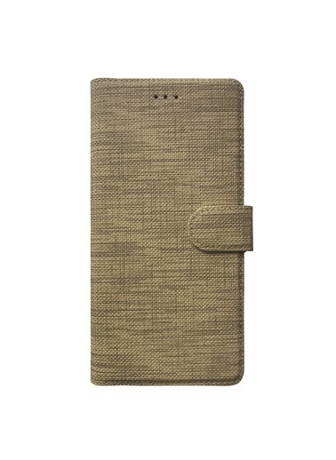 Microsonic Oppo Reno 5 Lite Kılıf Fabric Book Wallet Gold Altın